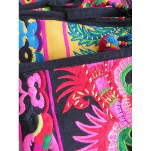 モン族刺繍ポーチ/A〜E 化粧ポーチ 刺繍好きな方へ アジア エスニック 花 鳥 華やか|zakkayakaeru