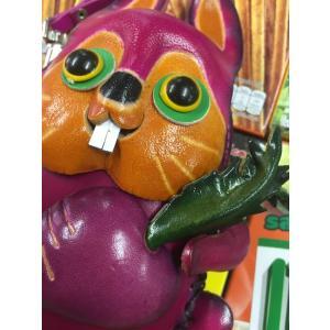 生き物モチーフ 革ポーチ/ウサギ うさぎ 兎 rabbit 小銭入れ バッグチャーム アジア エスニック 動物雑貨 ポーチ|zakkayakaeru