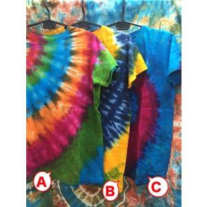 メンズTシャツ/タイダイ染め 3カラー ヨガ yoga メンズM エスニックファッション アジアンTシャツ フェス|zakkayakaeru