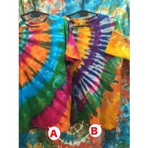 メンズTシャツ/タイダイ染め 2カラー ヨガ yoga メンズXL エスニックファッション アジアンTシャツ フェス|zakkayakaeru