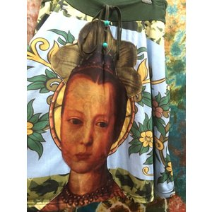 個性派スカート*台形スカート マリーアントワネットテイストな女の子 エスニック アジアン 膝丈 派手な柄 ド派手 個性的 zakkayakaeru