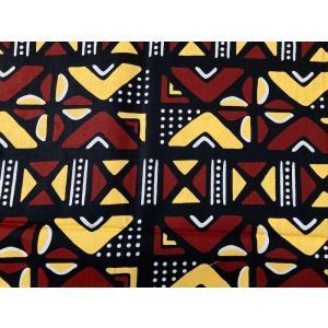 アフリカンプリント 生地 アフリカ布010 コーヒー豆C 幅120 長さ90 手作り ハンドメイド cafe 珈琲 coffee zakkayakaeru