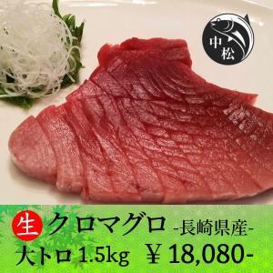 口でトロけるトロトロ食感 敬老の日 マグロ 刺身 大トロ クロマグロ 1.5kg|zakobanakamatsu-ys