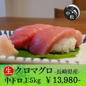 口でトロけるトロトロ食感 敬老の日 マグロ 刺身 中トロ クロマグロ 1.5kg|zakobanakamatsu-ys