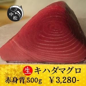 敬老の日 マグロ 刺身 赤身 ポイント消化 キハダマグロ 500g zakobanakamatsu-ys
