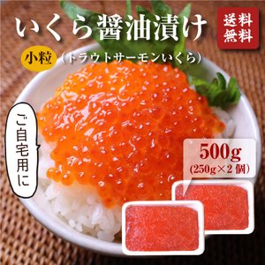 いくら(北欧サーモン)小粒 醤油漬け250g ×2個(500g)【送料無料】