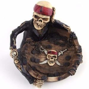 灰皿 アンティーク ヴィンテージ レトロ 骸骨 スカル 海賊 お洒落 タバコ
