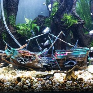 アクアリウム レイアウト 水槽 沈没船 Aquarium layout