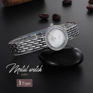レディース 腕時計 クオーツ 腕時計 おしゃれ カジュアル ラインストーン ホワイト 細ベルト|zakzak