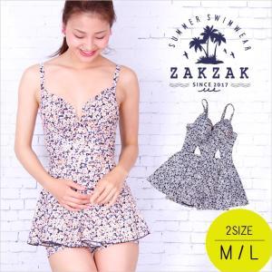 ワンピース 水着 セクシー スカート Aライン プール 花柄 フローラル プリント ファッション ゆったり ミニスカート zakzak