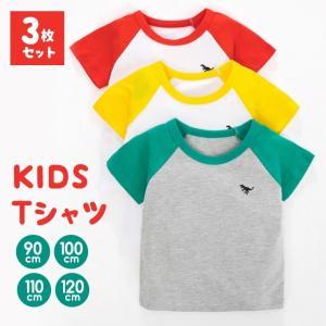 【3枚セット】Tシャツ キッズ 半袖 Tシャツ 半袖Tシャツ  セット 安い 保育園 洗い替え 子供 恐竜 男の子 3枚セット9C24|zakzak