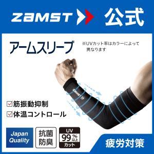 ザムスト アームスリーブ 両腕入り ZAMST サポーター 腕 アームカバー コンプレッション ランニング ジョギング マラソン|zamst