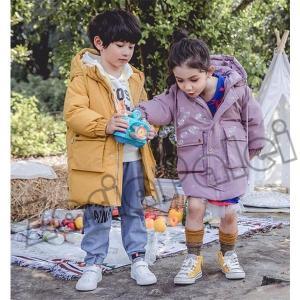 ダウンジャケット フード付き 女の子 男の子 ダウンコート キッズ ロングコート 子ども用 ジュニア コート 防寒着 zariapalei