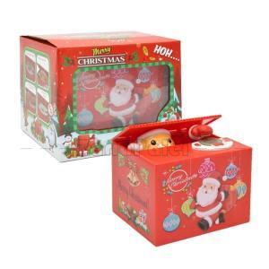 貯金箱 貯まる バンク サンタクロース クリスマス 女 男 誕生日 プレゼント ギフト 子供の日 友達 彼女 彼氏 可愛 かわいい|zariapalei