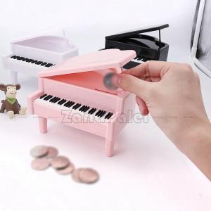 貯金箱 貯まる ピアノ バンク 女 男 誕生日 プレゼント ギフト 子供の日 友達 彼女 彼氏 可愛 かわいい きれい|zariapalei