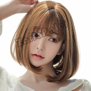 ウィッグ ショート ボブ フルウィッグ かつら wig ボブ内巻き 小顔 可愛い 原宿 レデイッス ネット付き|zariapalei