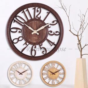 壁掛け時計 掛け時計 掛け おしゃれ 北欧 木目調 静音 非電波 シンプル デジタル 見やすい お洒落 装飾 リビング インテリア飾り 引越し祝い 新築祝い 30cm|zariapalei