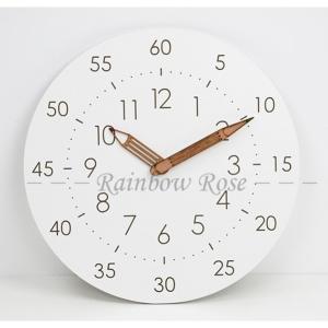 知育時計 壁掛け時計 掛け時計 子供部屋 アナログ時計 リビング おしゃれ シンプル 時間管理 学習教育グッズ 静音防塵 連続秒針 大文字 非電波 ウォールクロック|zariapalei