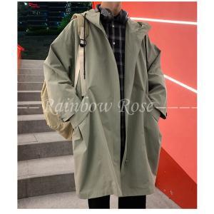 トレンチコート メンズ ビジネスコート ロングコート スプリングコート フード アウター コート|zariapalei