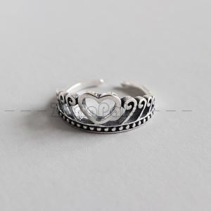 SILVER925製指輪 レディース シルバー925 シンプル ファッション クラウン zariapalei