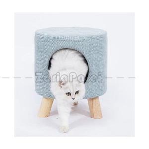 ペット ハウス ペットベッド 椅子 チェア 丸椅子型 猫ハウス 3カラー インテリア|zariapalei