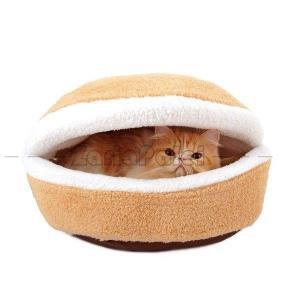猫 ベッド こたつ 猫用品 ペットベッド ドーム型 防寒 ペット ハウス マット付き 洗える ペット用 寝袋 猫 ハウス マカロン型 2WAY 猫ソファー|zariapalei
