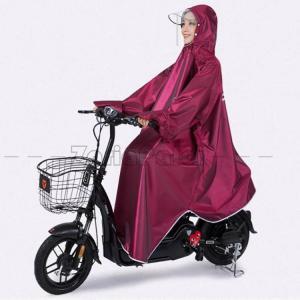 5色!レインコート 自転車 レインポンチョ 袖あり レディース ポンチョ サイクルレインコート  大きい二重ツバ ロングタイプ レインウェア アウトドア 防水|zariapalei