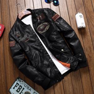 レザージャケット メンズ ライダースジャケット バイク用 刺繍 rose 革ジャン 大きいサイズあり お洒落 アウター ブルゾン シングル 裏ボア|zariapalei
