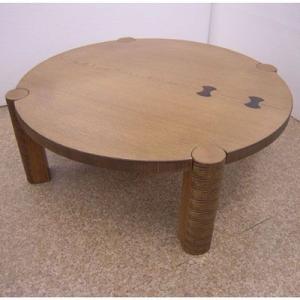 ちぎり折りたたみ90丸テーブル|zataku