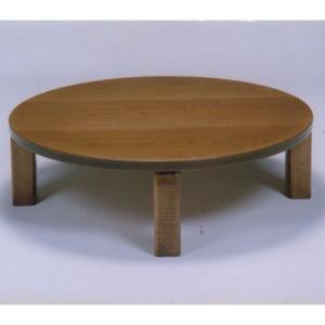 民芸ナラ折りたたみ、105丸テーブル|zataku