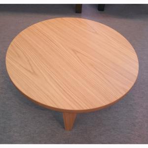 【座卓・こたつ】(ナラ・ウォールナット)90丸折れ脚テーブル|zataku