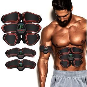 EMS 腹筋ベルト USB充電式 腹筋トレーニング 10種類モード 20段階強度 強度調整可能 液晶表示 多部位対応 男女兼用 MDM|zebrand-shop