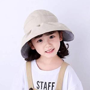 バイザー帽子 総レース サンバイザーハット 折りたためる 子供用 日よけ 紫外線対策 UVケア 折り畳み MDM(B--カーキ, シングル)|zebrand-shop