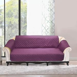 ソファーカバー タフタソファカバー 滑り止め 汚れ防止 ペット保護マット お手入れ簡単 四季利用可能 3サイズ MDM(purple, 三人用)|zebrand-shop