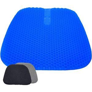 ゲルクッション 大きいサイズ 43×42×2.5cm 卵割れないクッション 通気性抜群 ACYD-02(ブルー, 43×42×2.5cm)|zebrand-shop