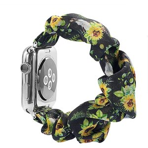 Apple Watch対応アクセサリー Watchバンド 柔らかく伸縮性のあるストラップ /(ヒマワリスカル, 38mm/40mm)|zebrand-shop