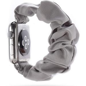Apple Watch対応アクセサリー Watchバンド 柔らかく伸縮性のあるストラップ /(プラチナグレー, 42mm/44mm)|zebrand-shop