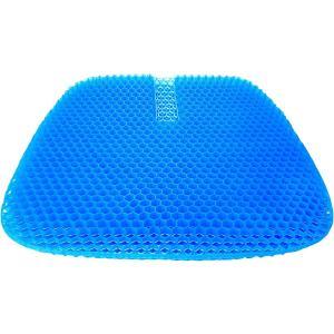 特大サイズゲルクッション 46.0×42.5×3.0cm 滑り止めカバー付き ダークブルー|zebrand-shop