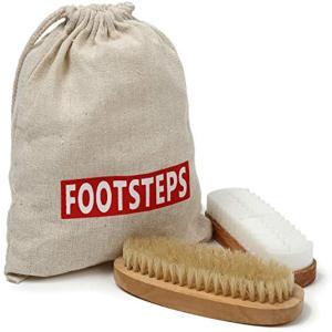 靴磨き ブラシ スエード 革 クリーナー 豚毛ブラシ クレープブラシ セット(ブラウン, Free Size)|zebrand-shop