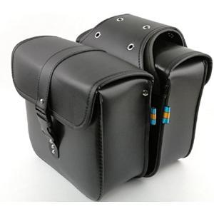 バイク 用 サイドバッグ 大容量 収納 高品質 2個 セット 防水 ツールバッグ 旅行 ツーリング(ブラック)|zebrand-shop