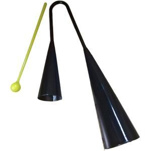 「mon luxe 」 カウベル アゴゴベル ハンドベル パーカッション 打楽器 25cm|zebrand-shop