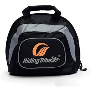 大容量 ヘルメット バッグ バイク ツーリング 手持ち 鞄 フリー サイズ ブラック 黒|zebrand-shop