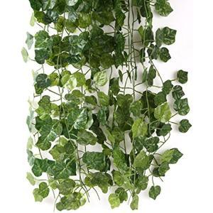 【目玉商品】スプレンノ 人工観葉植物 造花 12本 セット すぐに使える 結束バンド 付き フェイクグリーン(ブドウ)|zebrand-shop