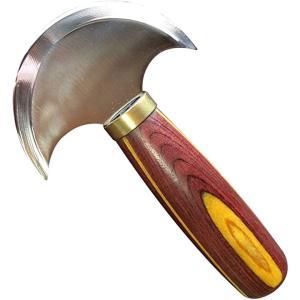 ヘッドナイフ レザークラフト 包丁 革裁ち 革漉き 裁断 ラウンドナイフ ハイス鋼 a826(小)