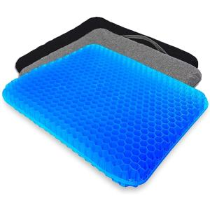 Serene freestyle 2020最新 ゲルクッション 二重 無重力クッション 両面使用可能 恒温 超通気 座布団(ブルー1)|zebrand-shop