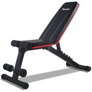 トレーニングベンチ 折り畳みダンベルベンチ インクラインベンチ 3in1 フォールディング フラットインクラインベンチ 腹筋 MDM(ブラック)|zebrand-shop