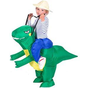 「恐竜 コスチューム」ハロウィン 怪獣 インフレータブル 仮装 衣装 子供 大人 レディース メンズ 男女兼用 スモール(スモール / 子供) zebrand-shop
