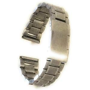 時計 ベルト 19mm ステンレス 無垢 メタル バンド 交換 3連 直カン式 シルバー[OT17]|zebrand-shop