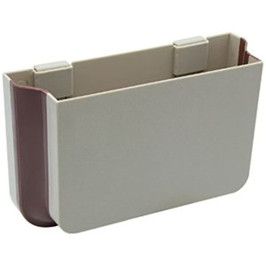 車用収納ボックス 折りたたみポケット 小物 ゴミ入れ カーシートの裏に簡単取り付け(ベージュ)|zebrand-shop