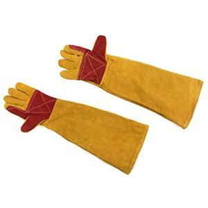 Gran Roi 作業用 手袋 保護 グローブ ロング ペット 噛みつき防止 アウトドア 耐熱 耐摩耗(イエロー・ロングサイズ)|zebrand-shop